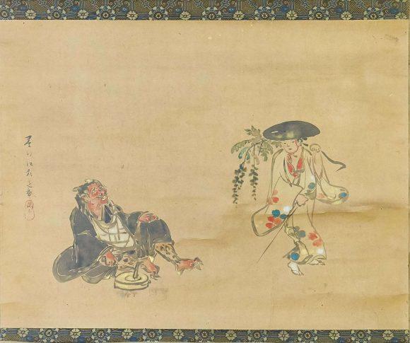 Démon déguisé en moine, Sumiyoshi Hirosada