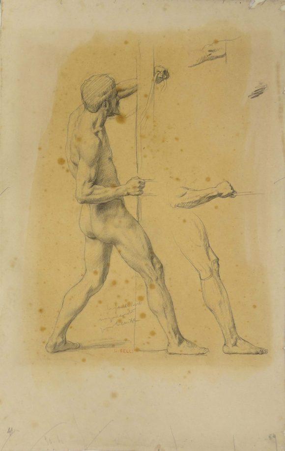 Étude pour un matelot, Léon Belly, 19e siècle
