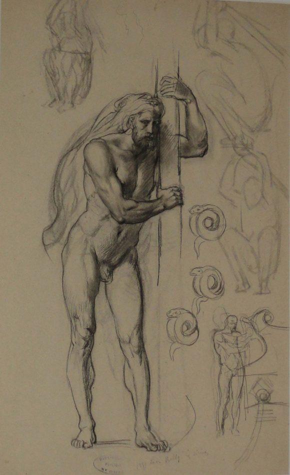 Étude pour le personnage d'Ulysse, Léon Belly, 19e siècle