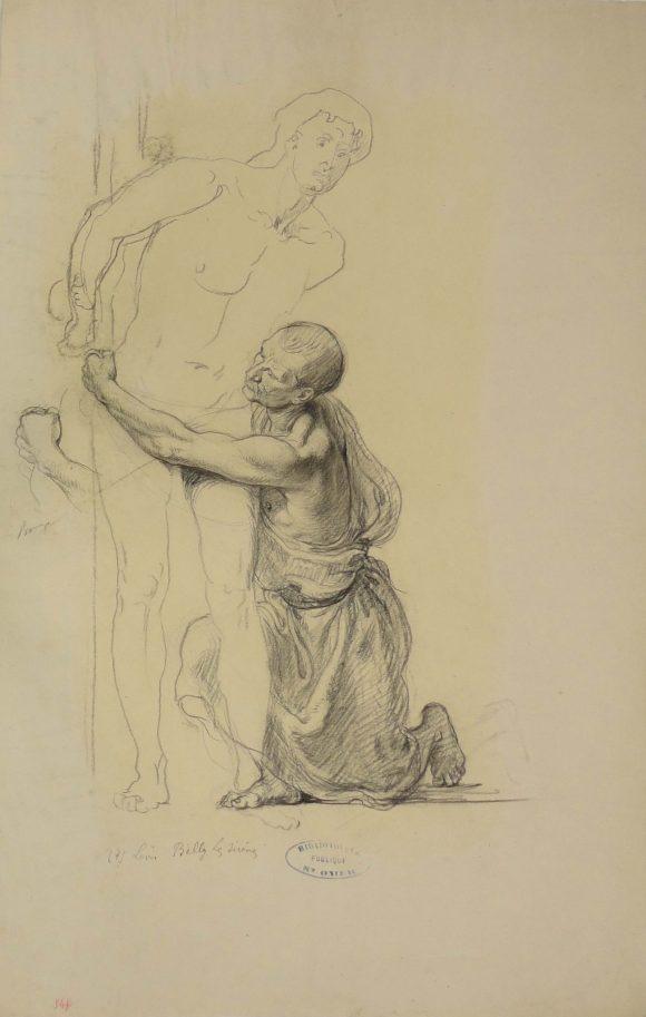 Étude pour le personnage d'Ulysse et un matelot, Léon Belly, 19e siècle