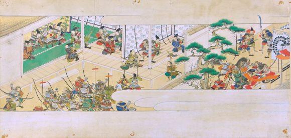 Guerriers dans un palais, anonyme