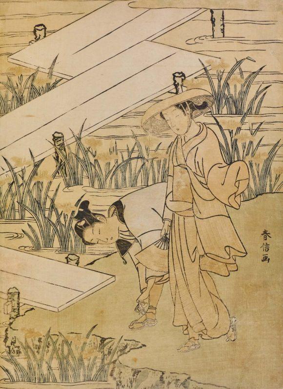 Promenade dans les iris, Suzuki Harunobu