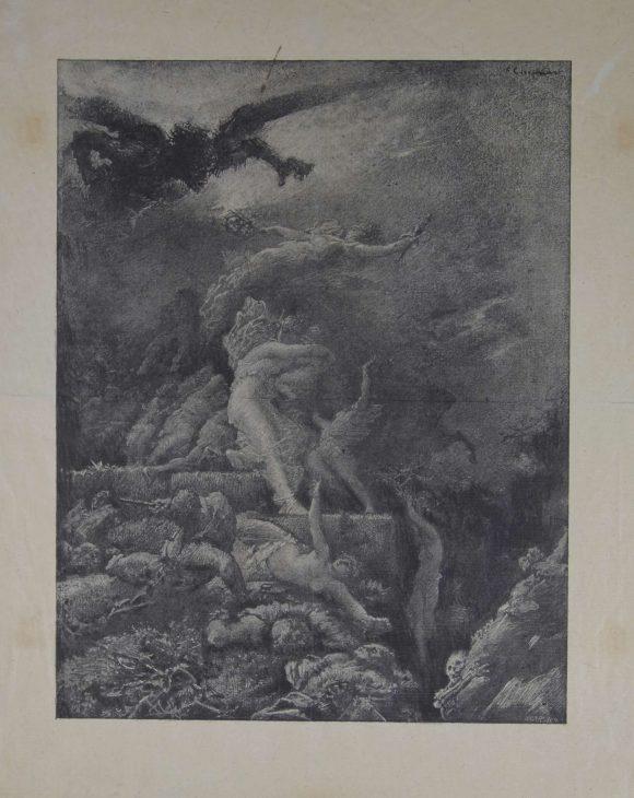Scène allégorique, François Chifflart