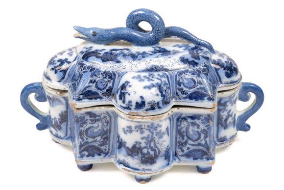 Boîte à épices, manufacture de l'A Grec, Delft, 17e siècle