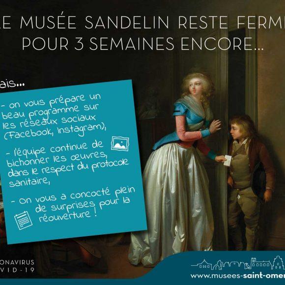 Le musée Sandelin est fermé pour 3 semaines encore