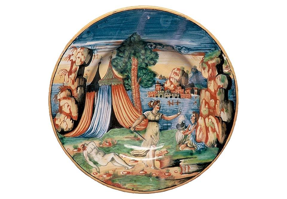 Assiette avec Judith, atelier d'Andrea da Negroponte, Italie, 16e siècle