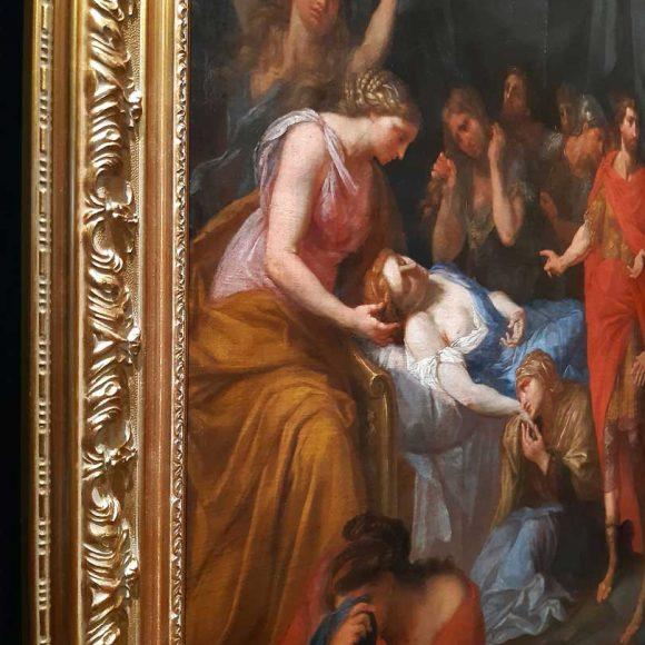 Encadrement d'une œuvre d'Arnould de Vuez